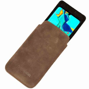 MATADOR Apple iPhone 6 6s Plus Leder Gürteltasche Vertikal Braun