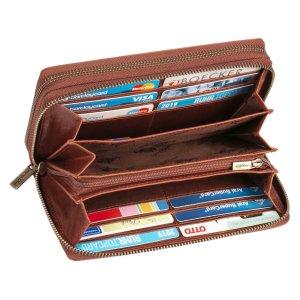 MATADOR Damen Geldbörse Langbörse Geldbeutel TÜV RFID Vintage