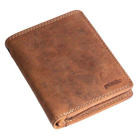 Herren Geldbörse Portemonnaie Brieftasche Geldtasche Leder Braun