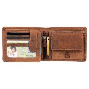 Herren Leder Geldbörse Portemonnaie Brieftasche Vintage Braun