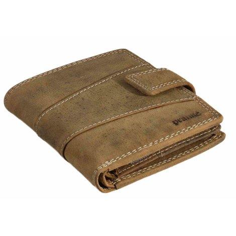 Pranke Herren Geldbörse Leder Portemonnaie Brieftasche Braun