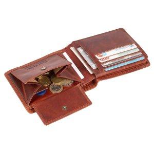 MATADOR Herren Leder Portemonnaie RFID Geldbörse Vintage Braun