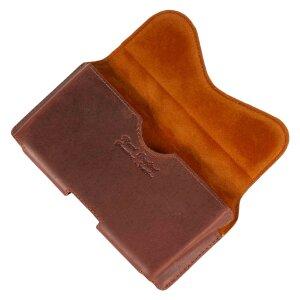 MATADOR Samsung Galaxy S8 Echt Leder Hülle Case Tasche Magnet Braun