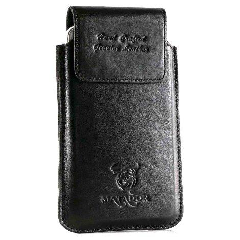 MATADOR Samsung S8 Ledertasche Leder Schutzhülle Schwarz