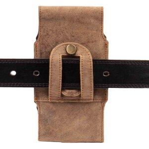 MATADOR Apple iPhone 5 5S 5C SE Echt Ledertasche Vertikal Braun