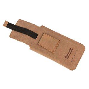 MATADOR iPhone 5 5S 5C SE Leder Gürteltasche Vertikal Braun
