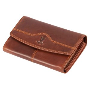 MATADOR Leder Damen Langbörse Geldbörse Geldbeutel TÜV RFID Braun