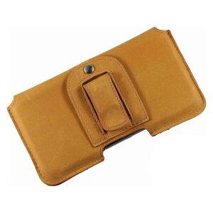 MATADOR iPhone 5 5S 5C SE Leder Handytasche Gürteltasche Gold Gelb