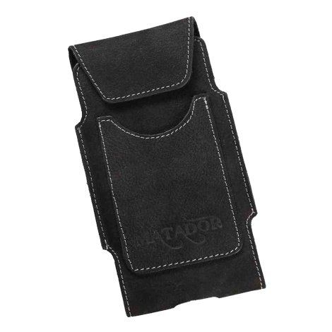 MATADOR iPhone SE 2020 6 6s Leder Gürteltasche Vertikal Schwarz