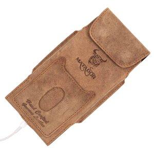 MATADOR Leder Apple iPhone SE 2020 6 6s Gürteltasche Vertikal Braun