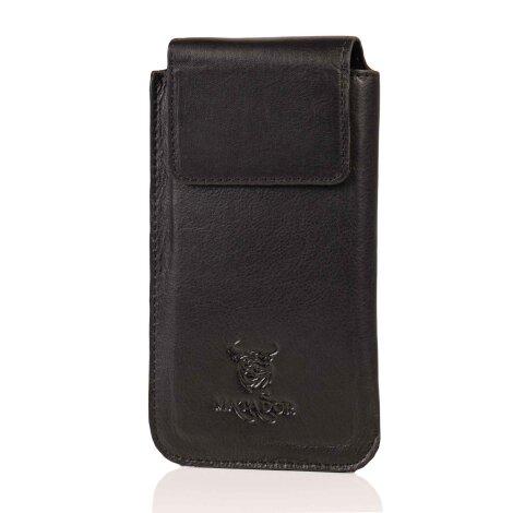 MATADOR Leder iPhone SE 2020 6 6s Gürteltasche Vertikal Schwarz