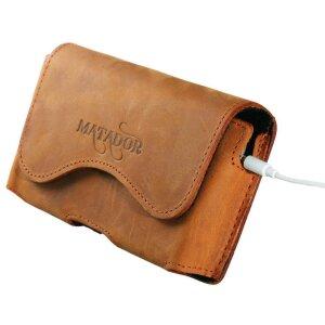 MATADOR Apple iPhone SE 2020 6 6s Leder Gürteltasche Quer Braun