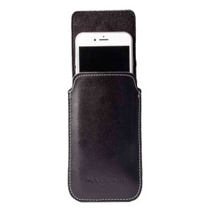 MATADOR Apple iPhone SE 2020 6 6s Leder Gürteltasche Vertikal Schwarz