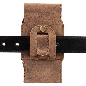 MATADOR Apple iPhone 7 Leder Gürteltasche Vertikal Braun