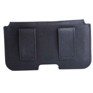 MATADOR Apple iPhone 7 Leder Quertasche Gürteltasche Schwarz