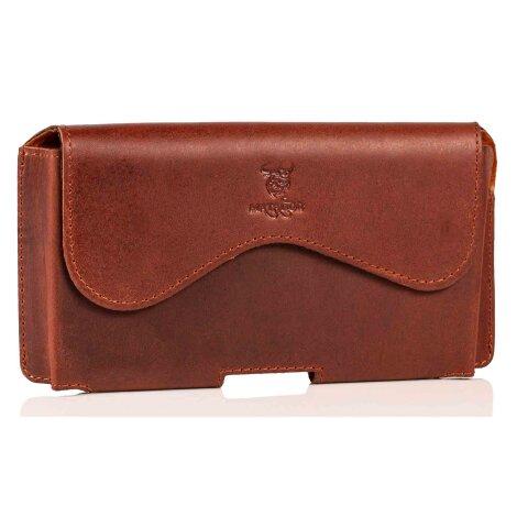 MATADOR iPhone 7 Leder Quertasche Gürteltasche Vintage Braun