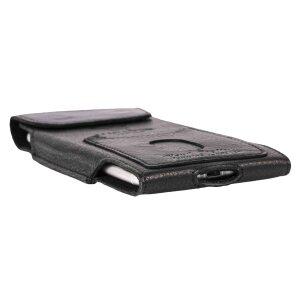 MATADOR Apple iPhone 6 6s Plus Leder Gürteltasche Schwarz