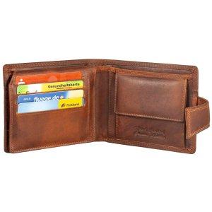 MATADOR Leder Herren Geldbörse Brieftasche RFID TÜV Braun