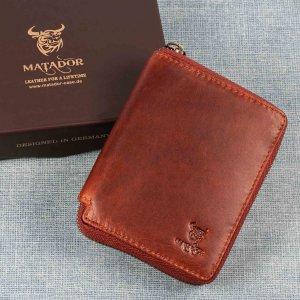 MATADOR Leder Herren Geldbörse Geldbeutel Brieftasche RFID Vintage