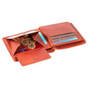 MATADOR Geldbörse Herren Leder Portemonnaie RFID Antik Vintage Braun