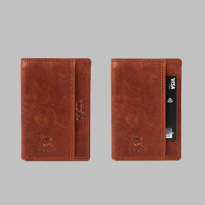 MATADOR Leder RFID Kreditkarten-Etui-Hülle Kartenetui Braun
