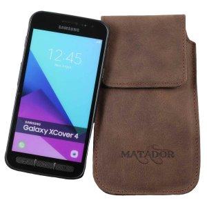MATADOR Samsung Galaxy Xcover 4 Ledertasche Schlaufe Braun