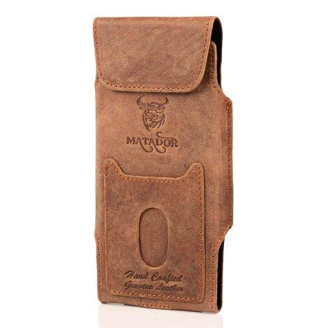 MATADOR Galaxy S20 FE Note 8 / 9 Ledertasche Vertikal Braun