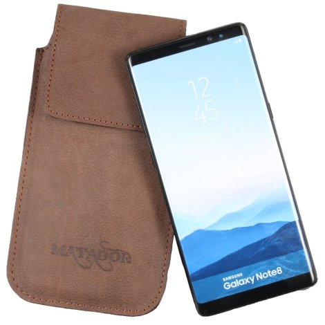 MATADOR Galaxy S20 FE Note 8 / 9 Leder Gürteltasche Vertikal Braun