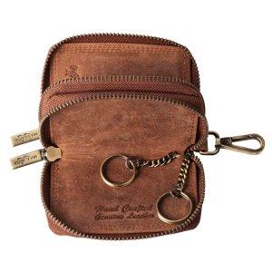 MATADOR Leder Auto-Motorrad-Schlüssel-Tasche-Etui Vintage Braun
