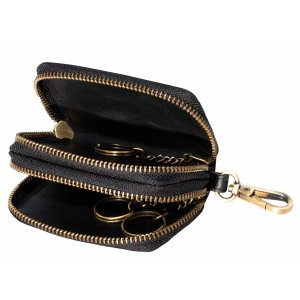 MATADOR Leder Auto-Motorrad-Schlüssel-Tasche-Etui Vintage Schwarz