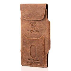 MATADOR Leder iPhone 7 Vertikaltasche Gürteltasche...