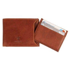 MATADOR Leder Kreditkarten Etui Hülle RFID Schutz Vintage Braun