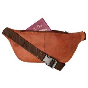 MATADOR Leder Bauchtasche Gürteltasche Hüfttasche Vintage Braun