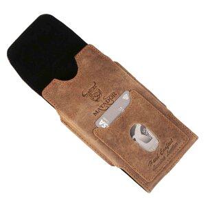 MATADOR Leder iPhone X XS Tasche Hülle Gürteltasche Vintage Braun