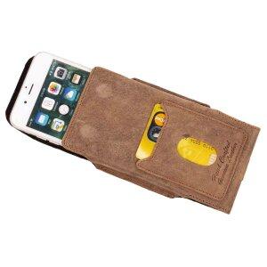 MATADOR Apple iPhone X XS Ledertasche Gürteltasche Vintage Braun