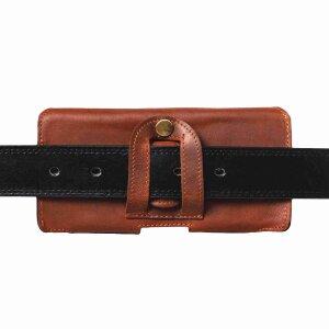 MATADOR iPhone X XS Gürteltasche Leder-Tasche-Hülle Hellbraun