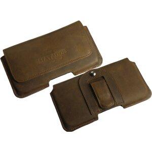 MATADOR iPhone X XS Leder Gürteltasche Quertasche Tabacco Braun