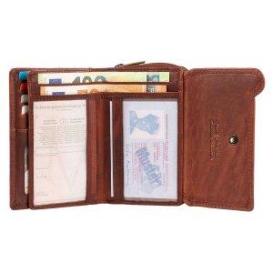 MATADOR Damen Leder Geldbörse Geldbeutel Portemonnaie TÜV RFID Braun