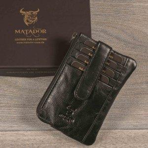 MATADOR Leder Schlüsseletui Auto Motorrad 4 Fächer RFID Schwarz