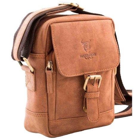 MATADOR Leder Schultertasche Hüfttasche Umhängetasche Vintage Braun