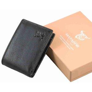 MATADOR Herren Geldbörse Portemonnaie Leder RFID Schwarz