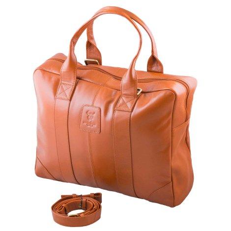 MATADOR Damen Handtasche Brooklyn Schultertasche Henkeltasche Braun