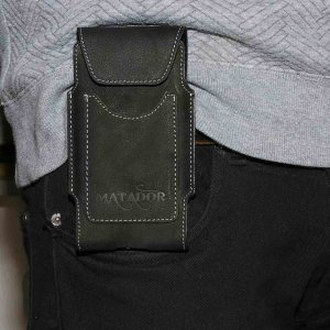 MATADOR Samsung Galaxy S9 Ledertasche Gürteltasche Schwarz