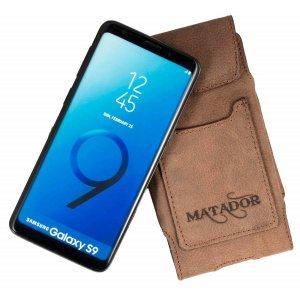 MATADOR Samsung Galaxy S9 Ledertasche Vertikal Braun