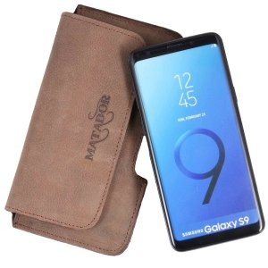 MATADOR Galaxy S9 Leder Gürteltasche Ledertasche...