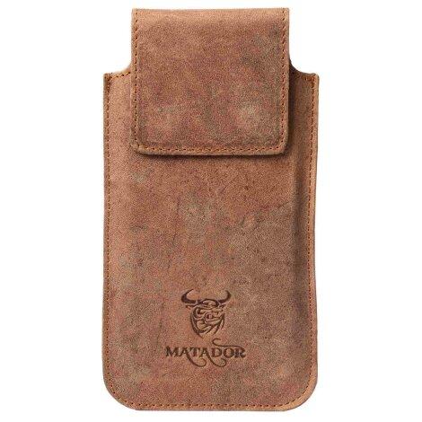 MATADOR Galaxy S9 Plus S10 Plus S20 Plus Leder Tasche Hülle Braun
