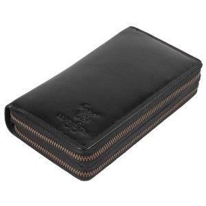 MATADOR Damen Geldbörse RFID TÜV Portemonnaie Leder Schwarz