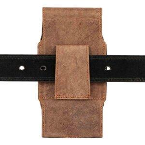 MATADOR Galaxy S9 Plus S10 Plus S20 Plus Leder Hülle Tasche Braun