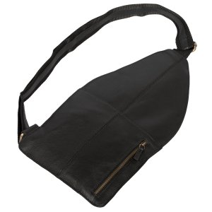 MATADOR Leder Schultertasche Umhängetasche Handyfach Vintage Schwarz