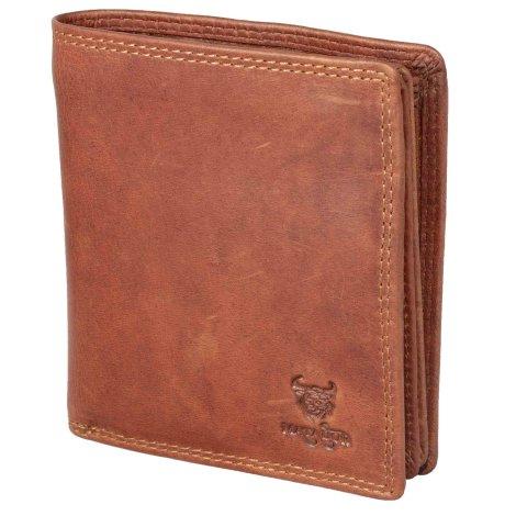 Herren Damen RFID-Schutz Geldbörse Geldbeutel Portemonnaie echt Leder Hochformat